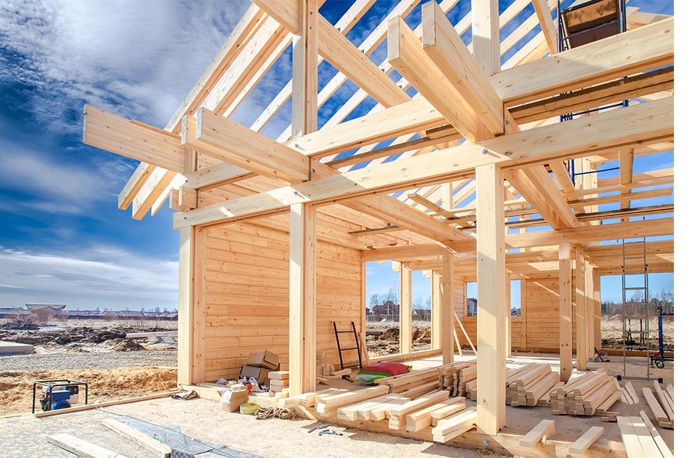 House Frame Construction Site